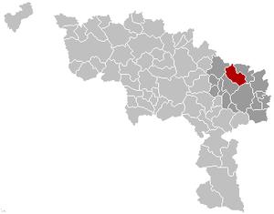 Pont-à-Celles - Image: Pont à Celles Hainaut Belgium Map