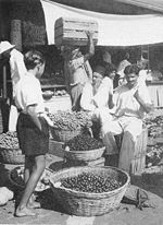 Picture from the 1950s of the Central Market, Port Louis, Mauritius.