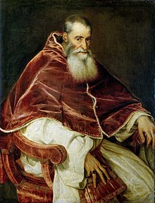 Portrait of Pope Paul III Farnese (by Titian) - National Museum of Capodimonte.jpg