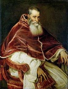 Retrato del Papa Pablo III Farnesio (por Tiziano) - Museo Nacional de Capodimonte.jpg