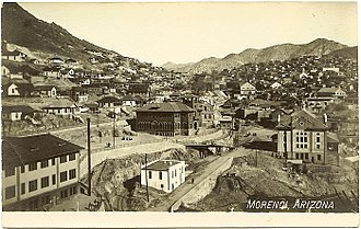 Augustine Chacon - Image: Postcard Morenci AZ Aerial View Circa 1910