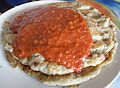 Potato pancake with tomato sauce.jpg