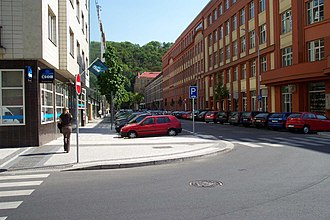 Karlín - Thámova Street in Karlín, renovated after 2002 floods