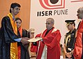 Pranab Mukherjee presenting the degree to a student, at the Third Convocation of Indian Institute of Science Education & Research, in Pune. The Union Minister for Human Resource Development.jpg
