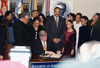 Henry Ossian Flipper - President Clinton pardons Flipper, February 19, 1999