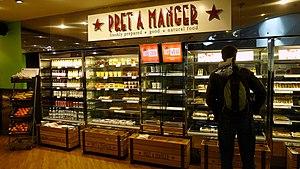 Pret a Manger - Inside Pret a Manger, Victoria Place, London