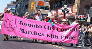 Pride Toronto - Several Toronto City Councillors taking part in the 2006 Pride Parade.