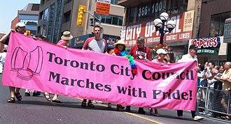 Pride Toronto - Several Toronto City Councillors taking part in the 2006 Pride Parade.