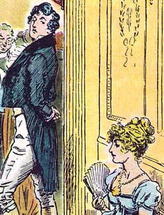 Mr. Darcy - Mr. Darcy and Elizabeth Bennet by C. E. Brock (1895)  She is tolerable, but not handsome enough to tempt me.