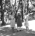 Prime Minister Jawaharlal Nehru with Edwina and Promila Mountbatten during their holiday in Simla in May 1948.jpg