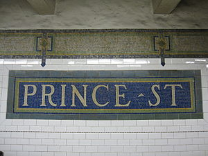 Prince Street (BMT Broadway Line) - Image: Prince Street BMT 002