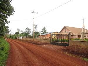 Bandrefam - Regional Route(D63)  crossing  Bandrefam