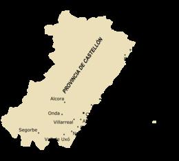 Cartina Spagna Villarreal.Provincia Di Castellon Wikipedia