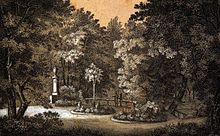 Grabsäule auf der Insel im Schlosspark (Quelle: Wikimedia)