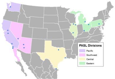 PASL Team Locations