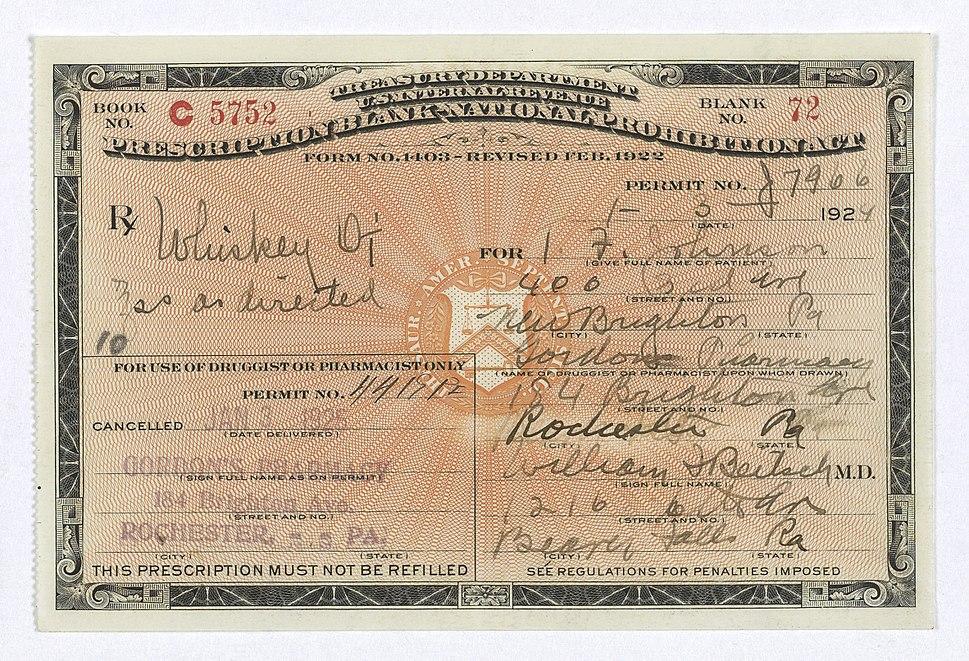Prohibition-era-prescription-for-whiskey