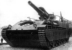 Prototype of SU-14 in trial, 1934.jpg
