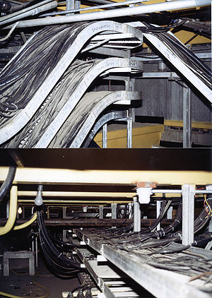 Cable tray - Cable spreading room at Point Tupper