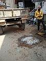 Public Road digging to lay Fibre Optics Cable, Munnekollala, Bengaluru.jpg