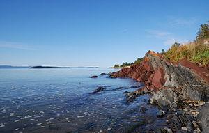 Raw water - Waterside of Saint Lawrence River near Kamouraska
