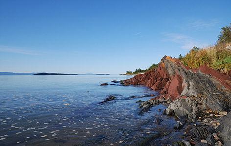 Waterside of Saint Lawrence River near Kamouraska