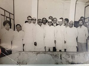 Sayyid Ahmedullah Qadri - Qadri ,With then Chief Minister of U.P Hemvati Nandan Bahuguna and other Notables