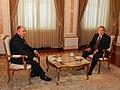 Qazaxıstan Prezidenti Nursultan Nazarbayevlə müsahibə.JPG