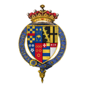 Quartered arms of Sir George Clifford, 3rd Earl of Cumberland, KG.png