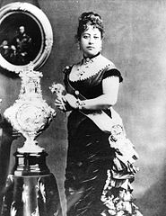 Queen Emma of Hawaii and christening font.jpg
