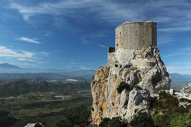 East view of the Château de Quéribus