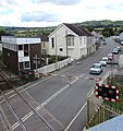 Queueing at Whitland railway station level crossing - geograph.org.uk - 4611461.jpg