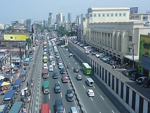 Quezon Boulevard - Image: Quezon Boulevard with FEU Manila Campus (Sampaloc, Manila; 2014 10 20)