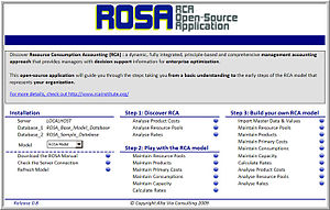 RCA open-source application - ROSA Copyright 2010 Alta Via Consulting, LLC