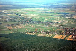 RO IF Gruiu A3 motorway from airplane 3.jpg