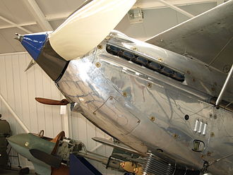 Rolls-Royce Kestrel - Streamlined Kestrel installation of the Hawker Hind. The driving dog for a Hucks starter can be seen