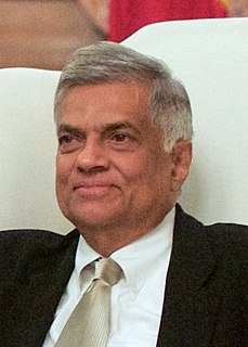 Ranil Wickremesinghe Former Prime Minister of Sri Lanka