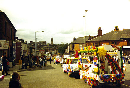 A contemporary view of Radcliffe's annual traditional English Carnival Radcliffe greater manchester carnival 2.jpg