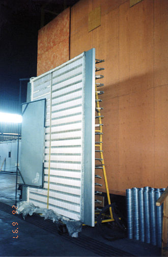 Thermal radiation - Radiant heat panel for testing precisely quantified energy exposures at National Research Council, near Ottawa, Ontario, Canada