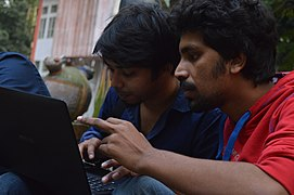Raihan Rana & Foysoll Aurdree at Wikipedia 15 good article edit-a-thon and adda, Chittagong 2 (02).jpg