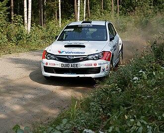 Anders Grøndal - Grondal at 2010 Rally Finland with Subaru Impreza WRX STi.