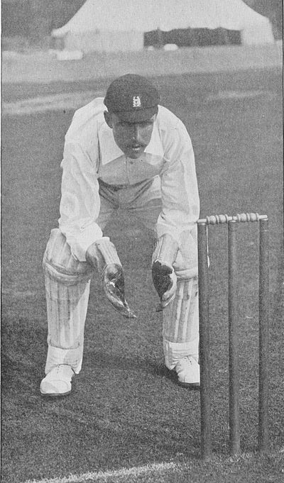 Ranji 1897 page 044 Lilley at the wicket.jpg