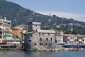 Rapallo - The castle at Rapallo from the gulf.