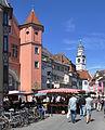 Ravensburg Wochenmarkt 2011-07-16 Gespinstmarkt 2.jpg