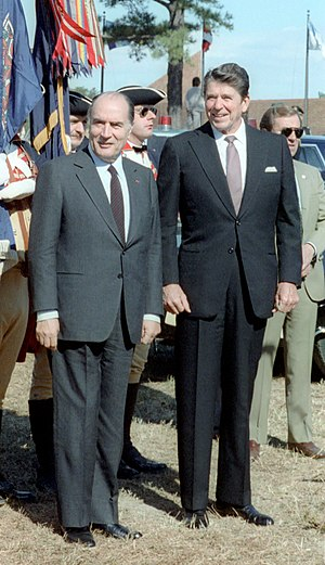 François Mitterrand - Mitterrand with U.S. President Ronald Reagan, 1981