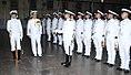 Rear Admiral Srinivas Kanugo, VSM, ACNS (Air Material) reviewing 23rd AEO ALO passing out parade.jpg