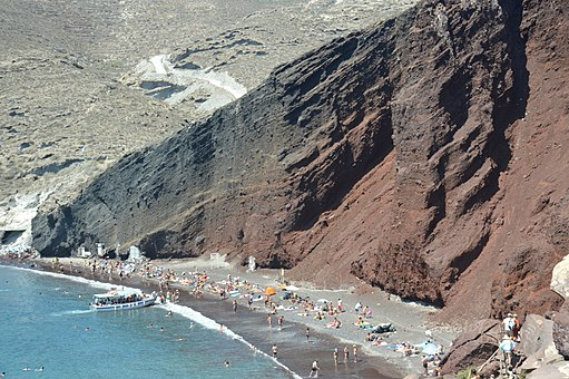 Red Beach near Akrotiti,Santorini