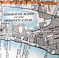 Relationship between Limehouse Cut and the Regent's Canal 1863.jpg