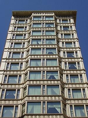 Upper facade
