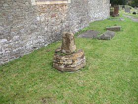 Remains of church cross, Bedwas (geograph 2598064).jpg