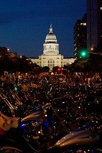 Republic of Texas Biker Rally. Parked motorcycles.jpg